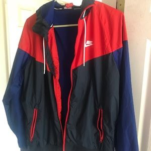 Used Authentic Nike red/blue and black jacket